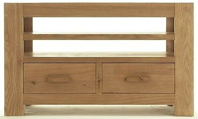 Chiltern solid oak living roon furniture TV DVD cabinet stand unit