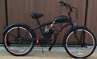 Motorized Bike Kit- Black Wheels - Custom Extended Frame - 80cc Flying Horse