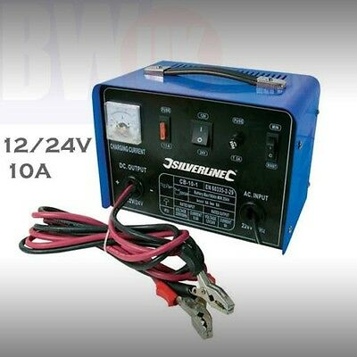 10AMP 12V//24V Heavy Duty Vehicle Battery Charger Car Van Truck Lorry Electrical