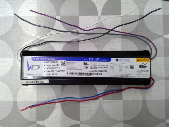 New Universal Lighting EVERLINE LED Ballast Power Supply D23CC90UNVT-F 120-277V