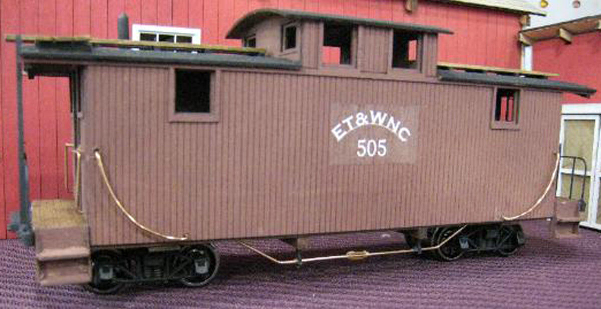 ET&WNC  TWEETSIE  CABOOSE  505 Model Railroad On3 On30 Unpainted Wood  Kit DF116