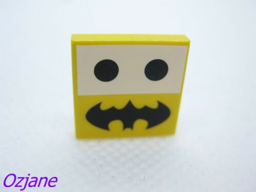 LEGO PART 3068BPB0816 TILE 2 X 2 BATMAN LOGO TWO BLACK DOT
