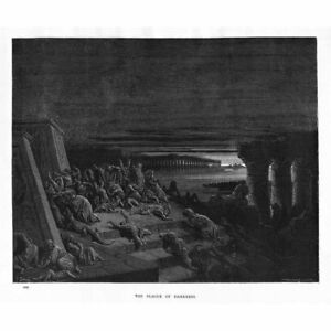 GUSTAVE DORE HOLY BIBLE PLATE I DELUGE OLD MASTER ART PAINTING PRINT 1198OMA