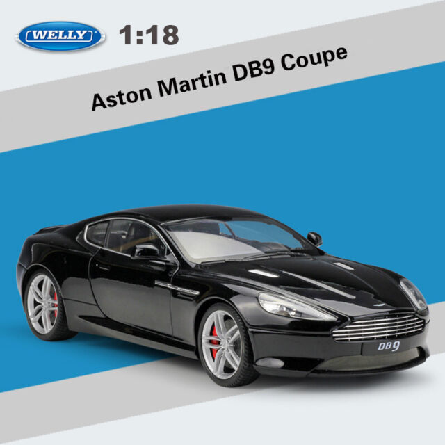 Welly 1:18 Scale Aston Martin DB9 Coupe Black Diecast Model Car Vehicle Toy New