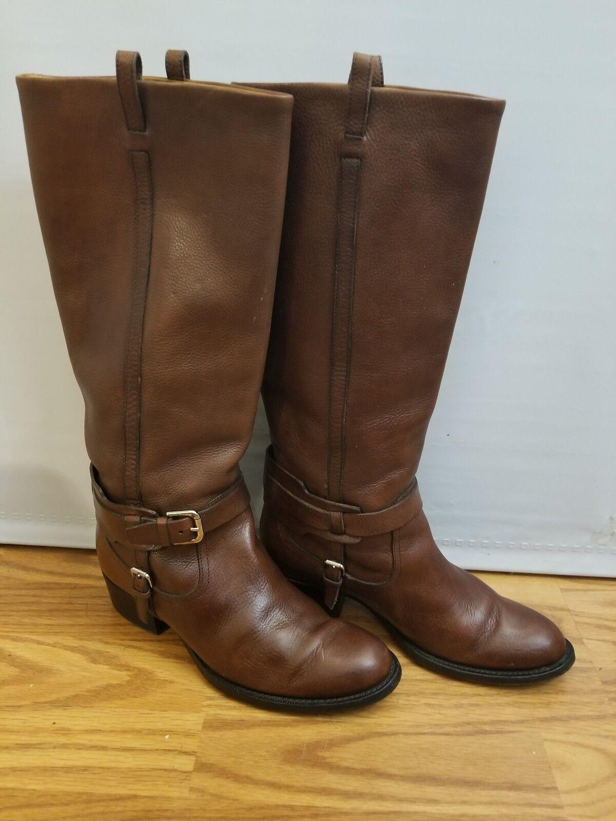 esclusivo Ralph Lauren Collection    donna stivali Dimensione 9 Chestnut Marrone Riding Leather   varie dimensioni