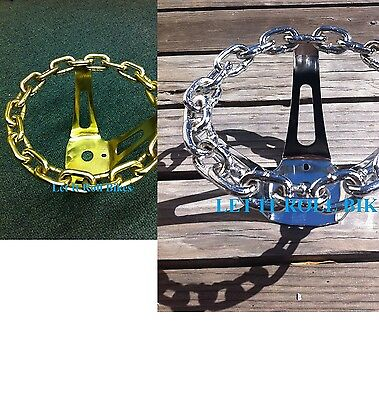 Lowrider Bicycle Chain Steering Wheel Chrome Custom Cruisers /& Chopper Bike