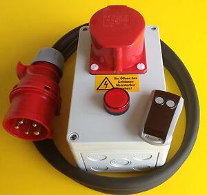 Starkstrom-Funkschalter-400-V-16-Amp-ca-30-Meter-mit-Handsender-schalten