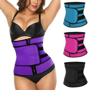 Women-Gym-Waist-Trainer-Vest-Slimming-Adjustable-Sauna-Sweat-Belt-Body-Shaper-US