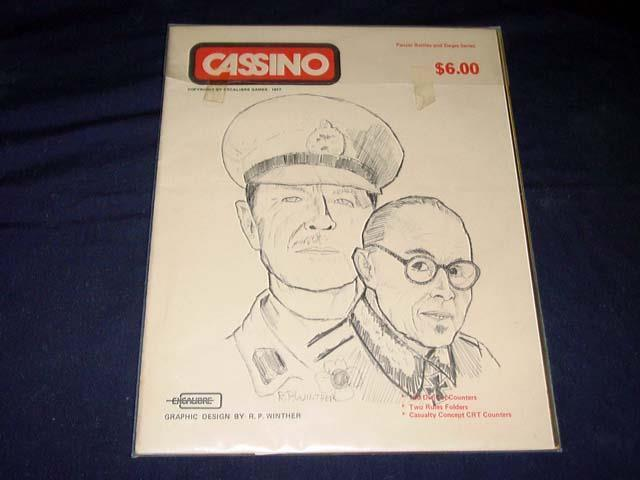 Excalibre Games 1977 - CASSINO game - Panzer Battles & Sieges Series (UNPUNCHED)