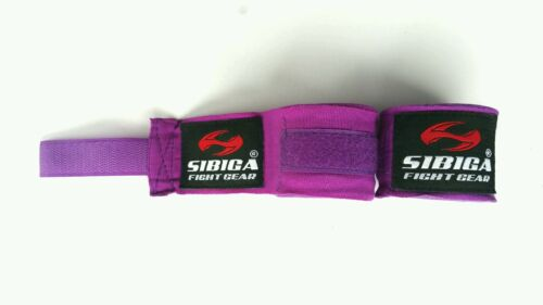 Sibiga Elastic Muay Thai Hand Wraps 5m purple
