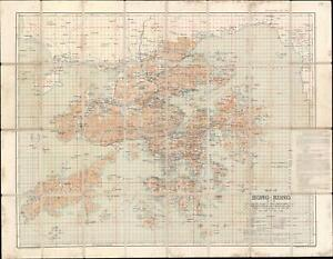 1922 War Office Map Of Hong Kong And The New Territories Ebay