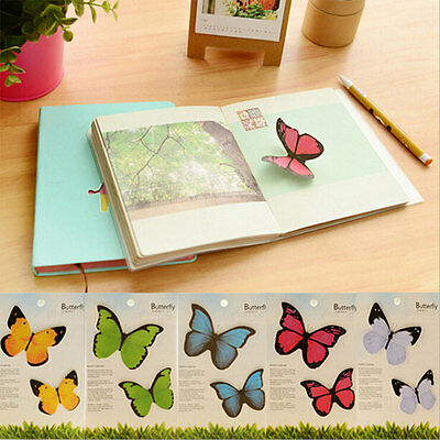 Cute 40 Pages Colorful Butterfly Sticker Post-It Bookmark Flag Memo Sticky Notes