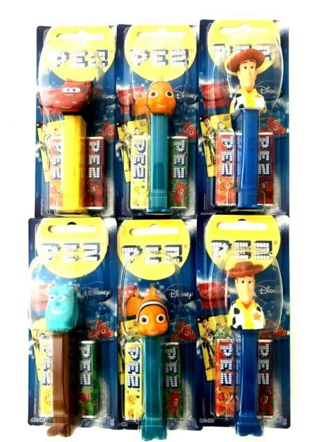 6 X Best Of Pixar PEZ Candy Dispenser
