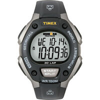 Timex Ironman T5e901 Triathlon 30 Lap Grey/black Watch With Indiglo Night Light