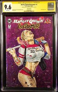 DC-Comics-HARLEY-QUINN-GOSSAMER-1-CGC-SS-9-6-Original-Art-Sketch-BATMAN-JOKER