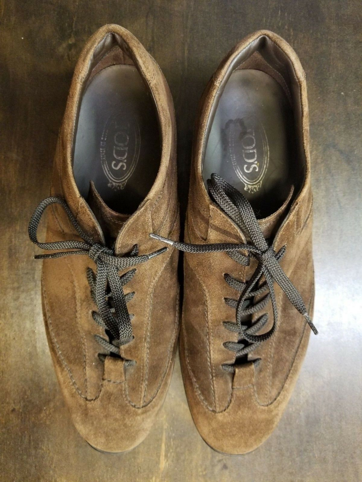 TOD'S Men's Brown Suede Walking shoes Sneakers Size 11.5