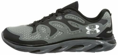 Para hombre Debajo de armadura equipo columna verdeebral Evo Zapato Negro Negro Metalizado Plata 1247972 001
