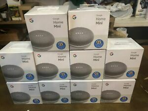 LOT OF 10 New Google Home Mini Smart Assistant Speaker CHALK