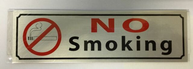 New NO SMOKING Sign Sticker For House, Office & Public Places Toilet Door Plaque