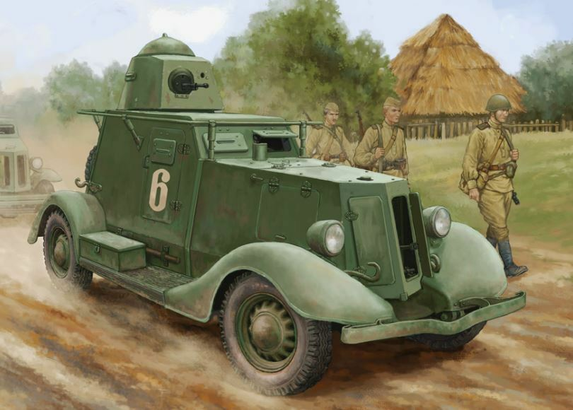 83882 HobbyBoss Soviet BA-20 Armored Car Mod.1937 Tank Static 1 35 Model Kit