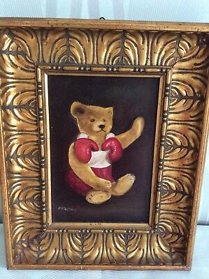WunderschöNen Ölgemälde Teddybär Steiff Maler Plischka Oilpanting Teddy Bear Painter Plischka Husten Heilen Und Auswurf Erleichtern Und Heiserkeit Lindern