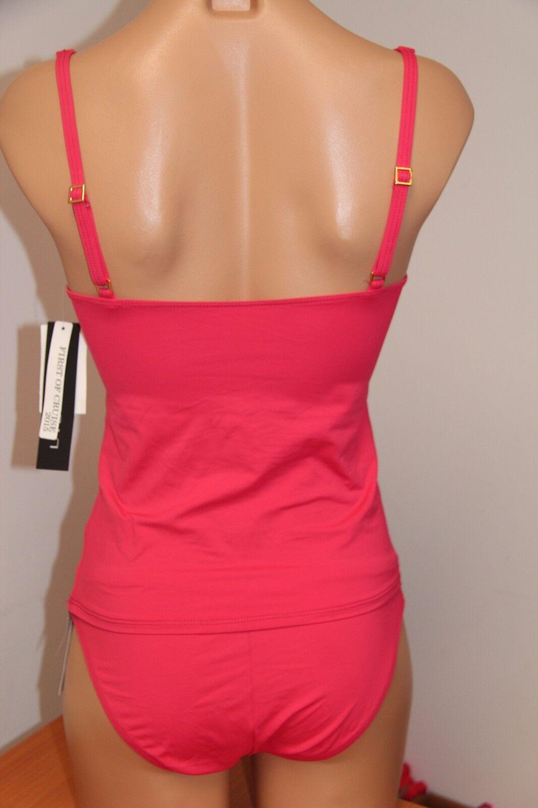 New La La La whitea Swimsuit Bikini Tankini 2 pc set Sz 14 PINK c9d6a7