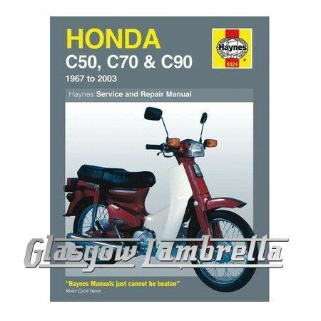 Haynes Service Manual 0324 Honda C50, C70 & C90 Scooters 1967-2003 +stickers
