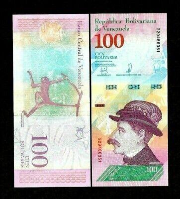 VENEZUELA FULL BUNDLE OF 100 x 10 BOLIVARES SOBERANOS UNC BANKNOTES 2018