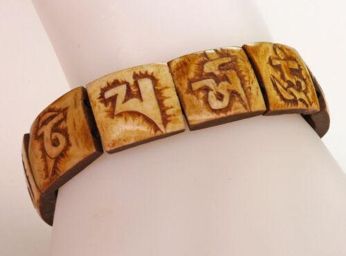 "Armband Mantra des Mitgefühls /""OM MA NI PE ME HUNG/"" Buddhismus Handarbeit 137d"