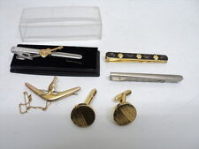 Job Lot Vintage Tie Pins One unused with the box