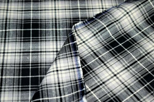 Printed Tartan Check Yarn Dyed Print Design 150 cm Wide Cotton Fabric Material