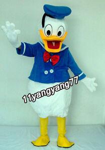 Donald Duck Maskottchen Kostüm Anzüge Charakter Erwachsenen Größe