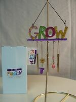 Silvestri Grow Glass Fusion Wind Chime 20103035 Potted Plant Dangles