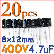 20 x 400V 4.7uF 8 x 12 mm Radial Electrolytic Capacitor