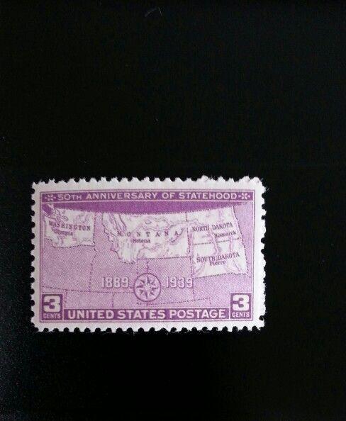1939 3c N. & S. Dakota, Montana, Washington Statehood S