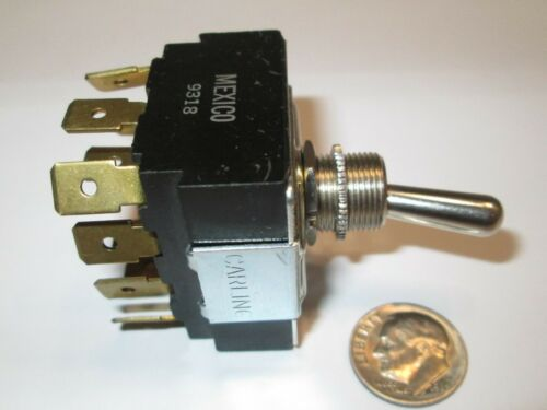 """ON   1//4/"""" QC TERMS NEW CARLING  TOGGLE SWITCH  4PDT ON OLD STOCK"""