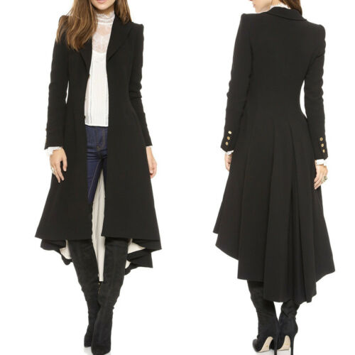 Steampunk Vintage Tail Trench Lange Blazer Retro Swallow Goth Coat Womens Jacket ffx1nqB