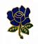 縮圖 1 - Blue Rose Pin Badge