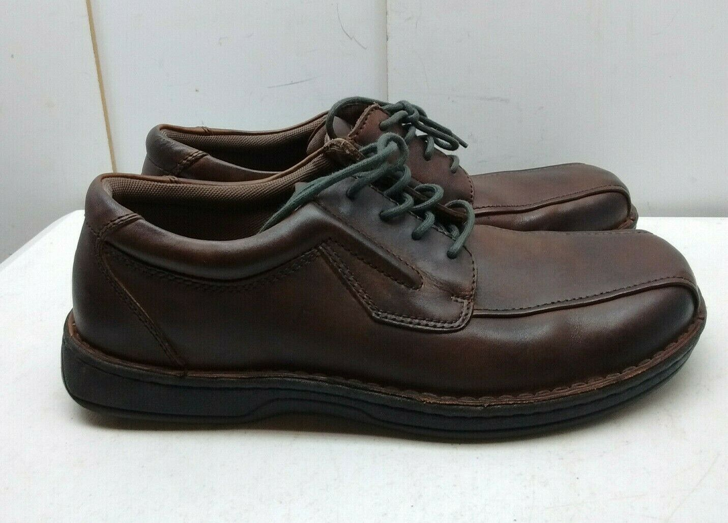Streetcars Brown Leather Oxford Bicycle Toe Lace Up Casual Comfort Men shoes 12M