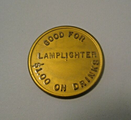 25 VINTAGE DEFUNCT LAMPLIGHTER STRIP CLUB SUPERIOR ADVERTISING TRADE TOKENS