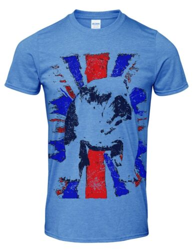 Bulldog breed dog British Bulldog Union Jack vintage distressed print t shirt