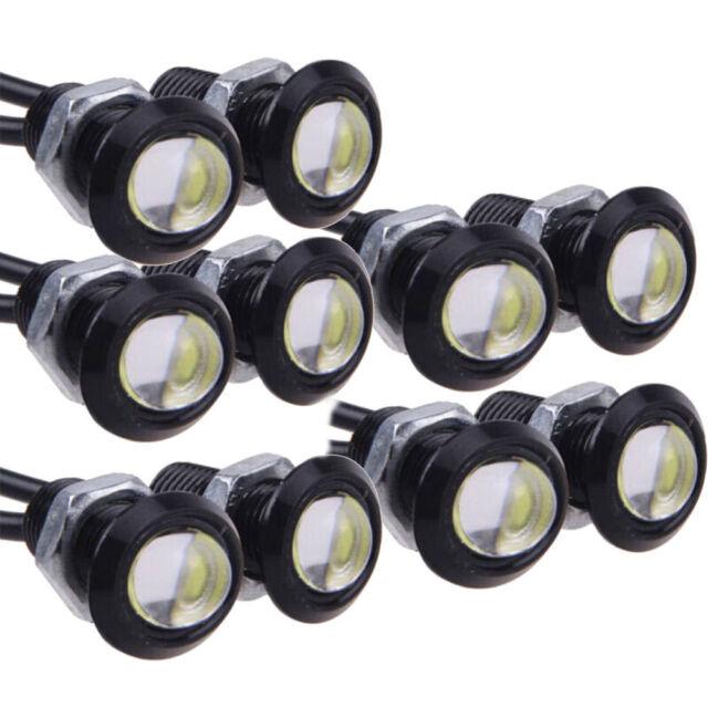10pcs 12V 9W LED DRL Eagle Eye Lights Car Auto Daytime Reverse Signal White  Lamp