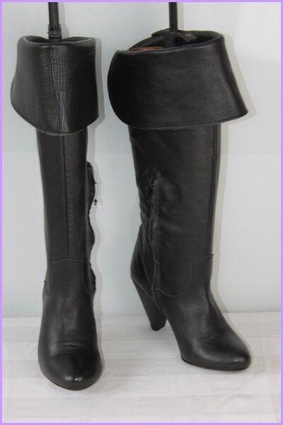 Stiefel Knie Altramerea Schwarzes Leder T 37 Top Zustand