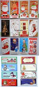 12-2-Luxury-Money-Gift-Card-Wallet-Santa-Kids-Classic-Xmas-Christmas-Gift