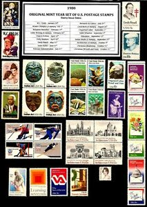 1980-COMPLETE-YEAR-SET-35-STAMPS-OF-MINT-NH-MNH-VINTAGE-U-S-POSTAGE-STAMPS