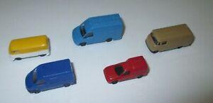 Rietze-Set-Kleintransporter-Transit-Iveco-Caddy-L319-Bully-5-x-1-160-Neuf