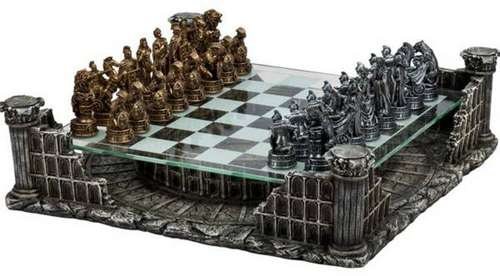 CHH Roman Gladiators Chess Board Complex Strategy Game Set King 3  Tall NEW