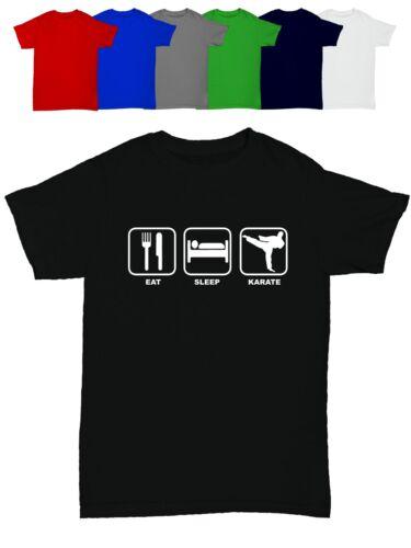 Eat Sleep Karaté Homme T Shirt Drôle Humour Anniversaire Cadeau Arts Martiaux