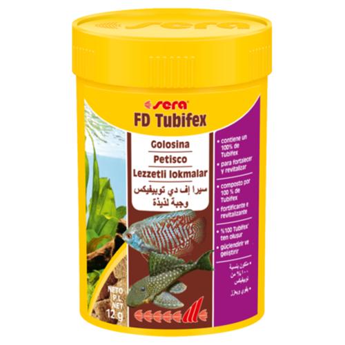 Sera FD Tubifex 100ml golosina rica en proteínas, para el fortalecimiento comida