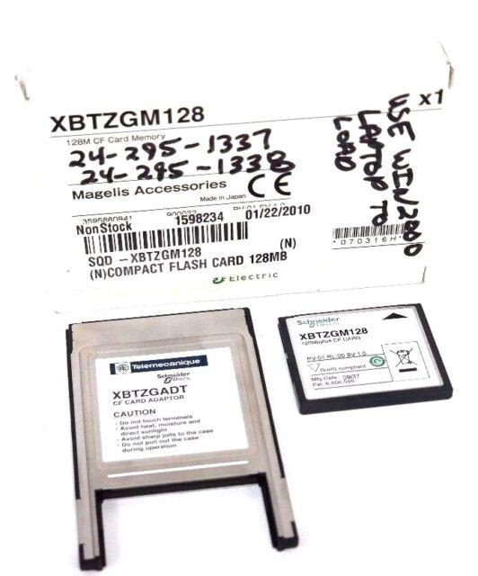 NIB SCHNEIDER XBTZGM128 128M CF CARD MEMORY COMPACT FLASH XBTZGADT CF CARD